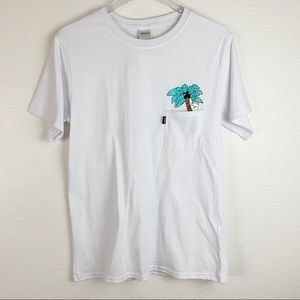 Ripndip Cat Coconut Tree White Graphic T-shirt L